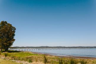 A view of Tuggerah Lake from Long Jetty